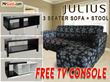 [FURNITURE SALES] FULL FABRIC 3+STOOL SEATER SOFA PROMOTION!!!FREE DELIVERY!!!FREE INSTALLATION!!!FREE TV CONSOLE !!!