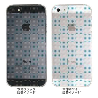 【iPhone5S】【iPhone5】【Clear Arts】【iPhone5ケース】【カバー】【スマホケース】【クリアケース】【チェック・ボーダー・ドット】【ドットボックス】【ブルー】 ip5-06ca051a-bの画像