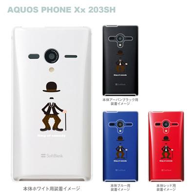 【AQUOS PHONEケース】【203SH】【Soft Bank】【カバー】【スマホケース】【クリアケース】【MOVIE PARODY】【ユニーク】【コメディアン】 10-203sh-ca0033の画像