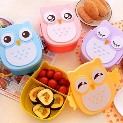 qoo10 cute cartoon microwave bento box cartoon cute owl bento lunch meal bo. Black Bedroom Furniture Sets. Home Design Ideas