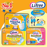 [Unicharm] LIFREE Adult Diaper - Powerful Slim Pants/ Super Absorb/ Absorbent Pads | No.1 IN JAPAN | More Comfortable Fit/ Prevents Rashes with Breathable Cover