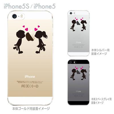 【iPhone5sケース】【iPhone5ケース】【Clear Arts】【クリア カバー】【スマホケース】【iPhone ケース】【クリアケース】【ハードケース】【イラスト】【着せ替え】【クリアーアーツ】【小さなカップル】 10-ip5s-ca0013の画像