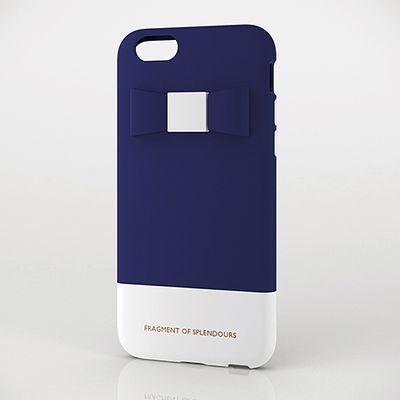エレコムiPhone6s/6用シリコンケース/リボン/ブルーPM-A15SCG04