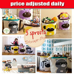 ★price adjusted daily★Canada Famous Brand /3 Sprouts /Storage Box /Storage Bin/Stylish Wall Organizers /Storage Caddy/Laundry Hamper/Toy Chest/Skip hop hamper/Children Toy Storage Organizer (1H-12)