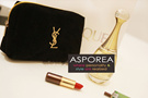*GWP* YSL Parfum Black Velvet Cosmetics Pouch with Gold Embroidery