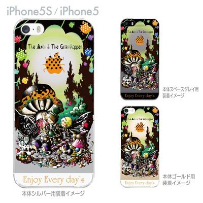 【iPhone5S】【iPhone5】【Little World】【iPhone5ケース】【カバー】【スマホケース】【クリアケース】【アリとキリギリス】 25-ip5s-am0035の画像
