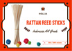 Top quality Hollia rattan reed sticks essential oil fragrance diffuser sticks 50 or 100 sticks per pack