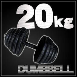 【レビュー記載で送料無料!】ラバーダンベル 20kg×1点筋トレに  ダイエット効果 シェイプアップ 筋トレ  重さ調整可能 ダンベル20タイプ