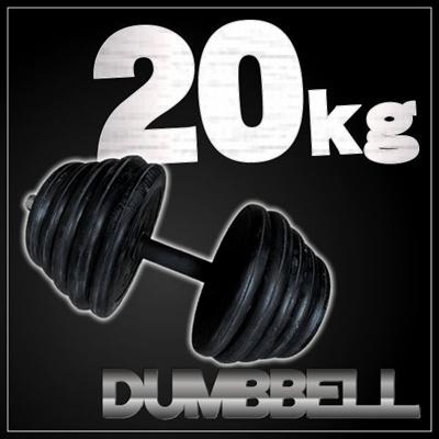 【レビュー記載で送料無料!】ラバーダンベル 20kg×1点筋トレに  ダイエット効果 シェイプアップ 筋トレ  重さ調整可能 ダンベル20タイプの画像