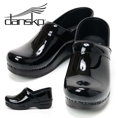 ダンスコ DANSKO レディース サボ/クロッグサンダル/コンフォートシューズ Professional Patent 22.5-23cm~24.5-25cm 406-020202 Blackの画像