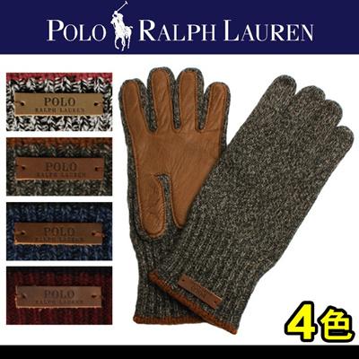 POLO RALPH LAUREN ポロ ラルフ ローレン ラグ ウール グローブ 6F0260 男女兼用の画像