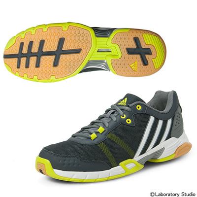 アディダス (adidas) Volley Team 2(ダークグレー×ランニングホワイト×セミソーラーイエロー) B40014 [分類:バレーボール バレーボールシューズ] 送料無料の画像