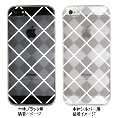 【iPhone5S】【iPhone5】【Clear Arts】【iPhone5ケース】【カバー】【スマホケース】【クリアケース】【チェック・ボーダー・ドット】【チェック柄B】 08-ip5-ca0097bの画像