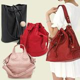 STARBAGS Buckle Bucket ShoulderBag/Handbag/Work Bag/Tote/Big Bag/Cross Body Bag/Clutch