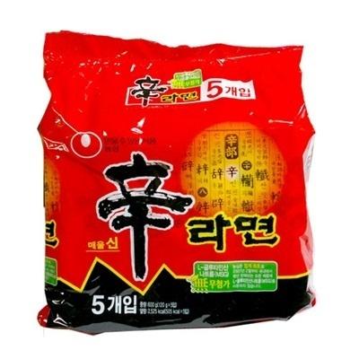 【韓国食品・韓国ラーメン】 ■韓国の辛(シン)ラーメン【5個セット】(辛さ2)■の画像