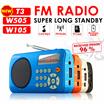 ▶ Mini Radio *  FM Radio T3 W105 W505* Portable Radio player with SD card * Bigger Battery capacity