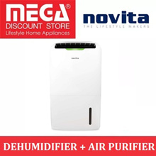 NOVITA ND2000 2-IN-1 DEHUMIDIFIER + AIR PURIFIER / FREE FILTER PACK / LOCAL WARRANTY