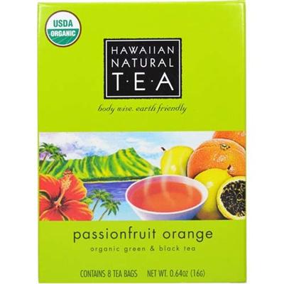 湘南インターナショナル ハワイアンナチュラルティー パッションフルーツオレンジ 8パック入  【飲料 お茶 紅茶 フレーバーティー】の画像