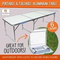 [Reduced Price] 240 x 60 / 180 x 60 / 120 x 60 / 70 x 50 Portable Foldable Aluminium Table