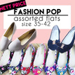 ♥Fashion Pop♥ Buy 2 Free Shipping! Size 35-42 ♥ Plus Size ♥ New Arrival Ladies  Fashion Flats Shoes