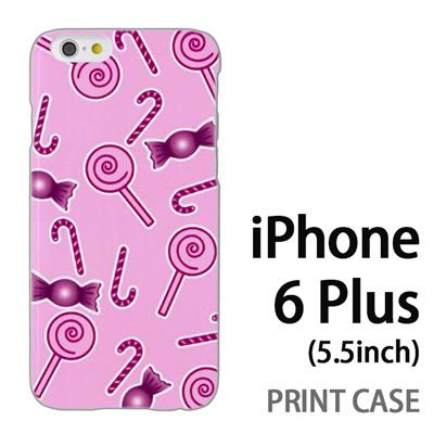 iPhone6 Plus (5.5インチ) 用『No3 キャンディー柄』特殊印刷ケース【 iphone6 plus iphone アイフォン アイフォン6 プラス au docomo softbank Apple ケース プリント カバー スマホケース スマホカバー 】の画像