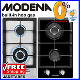 [FREE SHIPPING JADETABEK]  Modena built-in hob gas 30 cm dua burners  (domino) Garansi 1 Tahun