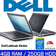 [Refurbished] Dell Latitude E6320 / Notebook - Intel i5 Core / 4GB RAM / 250GB HDD / Windows 7 Pro / One Month Warranty