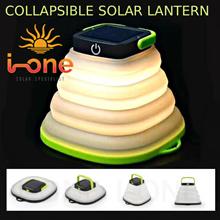 LED SOLAR COLLAPSIBLE LANTERN LIGHTS LAMP WATERPROOF OUTDOOR EMERGENCY  HIGH EFFICIENCY