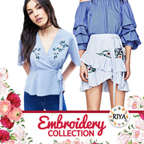 [ NEW ARRIVAL] Embroidery Blouse Shirts T-shirt TOP Collections