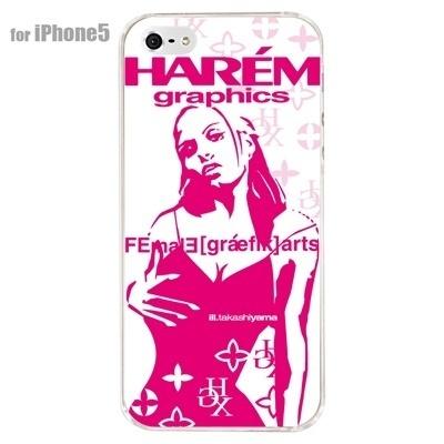 【iPhone5S】【iPhone5】【HAREM graphics】【iPhone5ケース】【カバー】【スマホケース】【クリアケース】 HGX-IP5C-022Bの画像