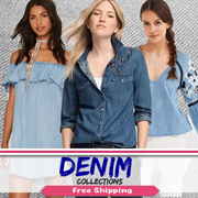 [18 MAR New Arrivals] Denim Dress. Tops. Bottoms Collections