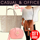 [BUY 1 GET 1 FREE] LaceBud Bag/Vivi Bag/Buckle Bag/Quilted Bag Office and Casual Looks/ Cheap Ever