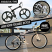 ★ Land Rover Foldable Bicycle ★ 26 inch ★ Full Suspension Folding Bike ★ High Carbon Steel With 21