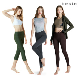 ★TESLA YOGA PANTS★ Women Leggings Capri Long Pants/Short Pants/Pocket Pants/Fitnesswear/pilates