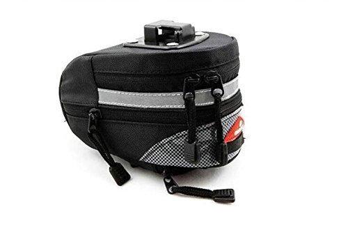 Life-JPバイク用エクステンションサドルバッグ ストラップ式 シートバッグ ロードバイク サイクリング 小物入れ補修用品 取付け工具不要 ブラック