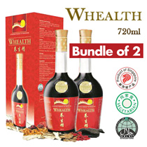 [Bundle of 2] WHEALTH Health Tonic 养生精 720ml -  Herbal Tonic For All Ages (Made in Singapore)
