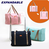 Local Delivery**NEW ARRIVAL**Expandable Foldable Cabin Bag|Waterproof Tote Bag|Come with Small Pouch