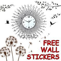 【YOUTING】unique crystal clock watch 3D Modern art Clock christmas gift ❤Flip Clock❤Meidi Wall clock❤DIY digital creative gifts❤ little bird swing clock