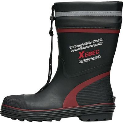ジーベック(XEBEC)ショート丈安全長靴71/レッド85711【長靴】