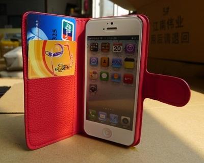 【送料無料】iphone5専用PUレザーケース(液晶シート付)【携帯ケース、iPhone 5 ケース、iPhoneケース、アイフォンケース、スマートフォンケース】の画像