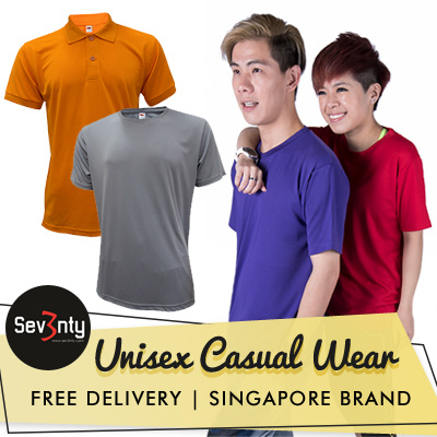?Sev3nty UNISEX Casual Wear? Size XXS to XXXL?Available in Round Neck / Polo / Cotton / Drifit Deals for only S$19.9 instead of S$0