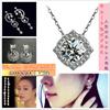 (送料無料、クリスマス特集)高品質18kgp14kgpAAAczダイヤモンドネックレス、ピアス、指輪、華やかな輝きが自慢、華奢で上品に見える