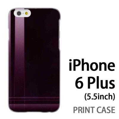 iPhone6 Plus (5.5インチ) 用『No3 クロスライン 茶色』特殊印刷ケース【 iphone6 plus iphone アイフォン アイフォン6 プラス au docomo softbank Apple ケース プリント カバー スマホケース スマホカバー 】の画像