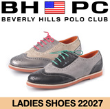 [BHPC] Beverly Hills Polo Club - Ladies Leather Shoes 22027. Available: BLACK/PEWTER. Guaranteed 100% Authentic Local Seller