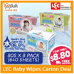 ♥FREE Shipping♥LEC 99.9% [JAPAN] Pure Water Baby wipe - Everyday wipes (80s x 8) / Hand and Mouth (8