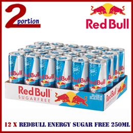 12 x REDBULL ENERGY DRINK SUGAR FREE 250ML