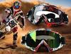 送料無料★オフロードバイクゴーグル防風 バイクレーシングモトクロス眼鏡アンチUV ATV  ゴーグル スキー ヘルメット