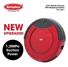 *New Upgrade 1200PA* 2-in-1 Robotic Vacuum Cleaner (Dry and Mop) ERV 3031T Time Scheduling / Auto