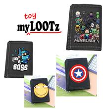 [Nov] Minecraft/Captain America/Totoro/Emoticon/Doraemon Wallet with coin compartment for school kid