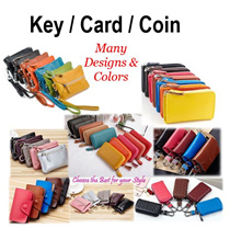 ☆ 05/01 New Update ☆  Key Holder / Card Wallet / Car Key Pouch / Leather Key Pouch / Key Chain / Classic Elegant Design / For Ladies and Men / Free Shipping